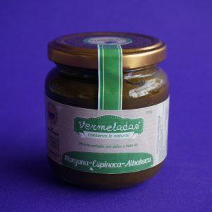 Mezcla untable de manzana-espinaca-albahaca- Vermeldas