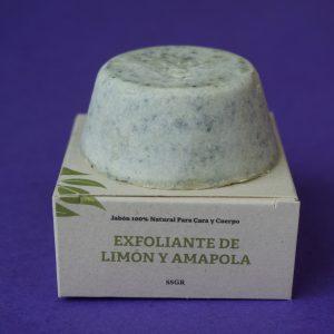 Jabón exfoliante de amapola y limón – Oiris