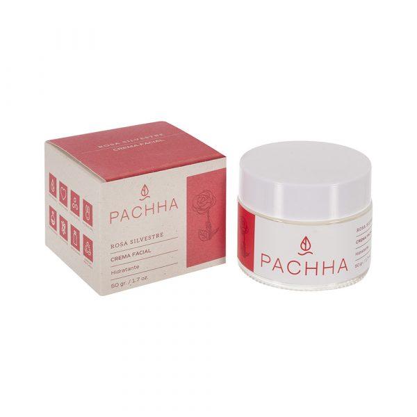 Crema hidratante facial de rosas Pachha, Ecomuwa