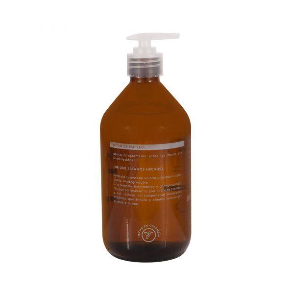 Jabon liquido para manos biodegrdable Elemental Muwa